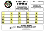 Darts - Singles & Doubles Card